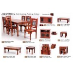Jaipur Nest of Tables Solid Acacia Rustic Antique Indian Furniture