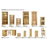Corona Distressed Light Waxed Solid Pine Accessories Staircase Storage Unit