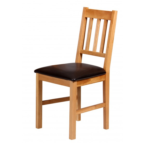 Hyde Solid Oak Traditional Dining Chairs Natural Finish - Pack of Two