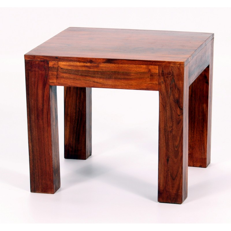 Jaipur Solid Acacia Rustic Antique Lamp Side End Table