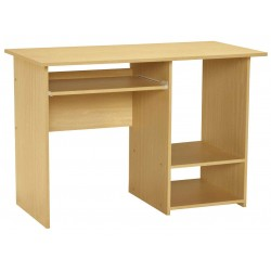Santos Wooden PC Computer Desk Beech Finish