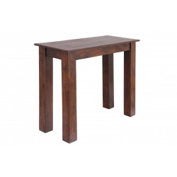 Carnival Solid Acacia Rustic Console Side Hall Table - Dark Oak Finish