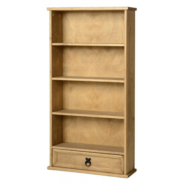 Corona Distressed Light Waxed Solid Pine DVD CD Accessories Display Rack