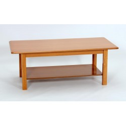 Avon Traditional Rectangle Coffee Table with Shelf Oak Finish