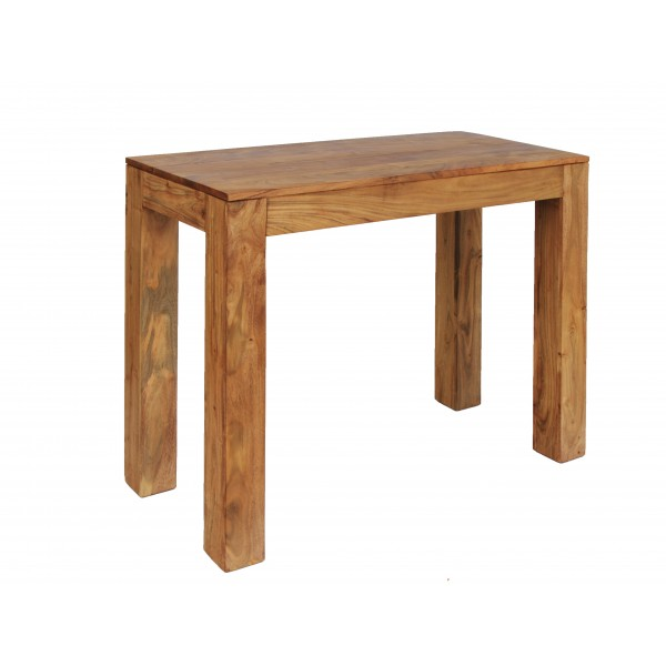 Carnival Solid Acacia Rustic Console Side Hall Table - Brushed Sand Finish