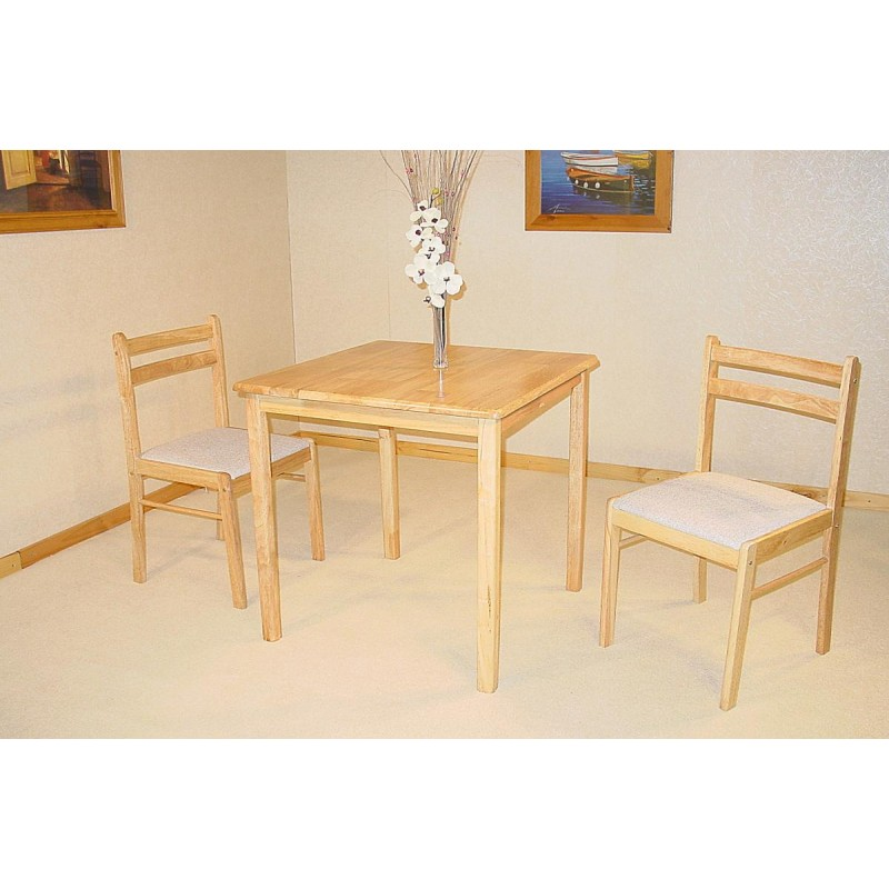 Dinnite Small Square Dining Table With Two Chairs