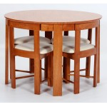 Durham Round Dining Table with Four Chairs - Meduim Oak Finish