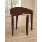 Lunar Folding Round Dining Table with Two Chairs - Mahogany Finish