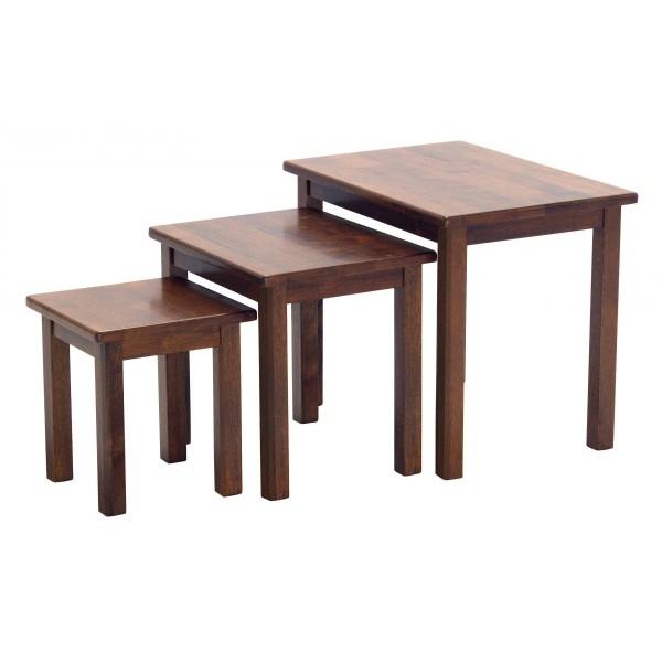 Portman Traditional Nest of Tables - Oak Finish