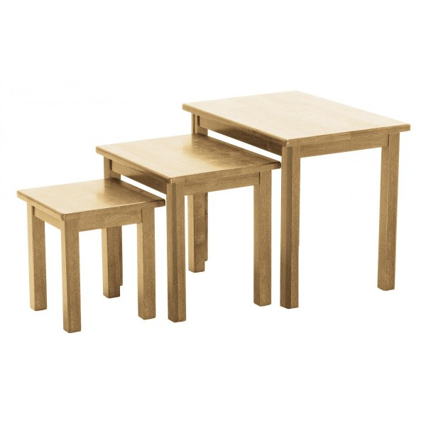 Portman Traditional Nest of Tables - Natural Finish
