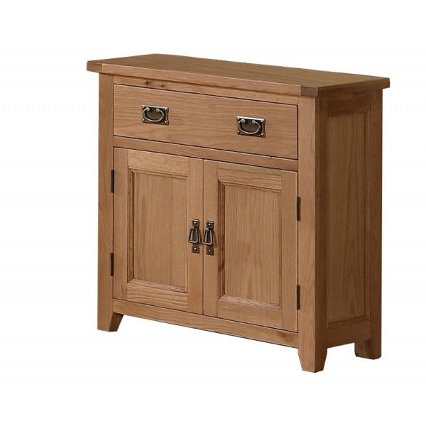 Stirling Solid Oak Two Door Buffet Sideboard Cabinet