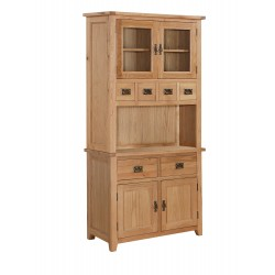 Stirling Solid Oak Two Door Buffet Hutch Sideboard