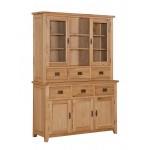 Stirling Solid Oak Three Door Buffet Hutch Sideboard