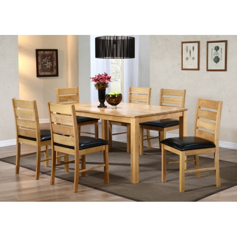 Fairmont Large Wooden Dining Table With Six Chairs