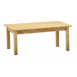 Hamilton Traditional Wooden Rectangle Coffee Table - Natural Finish