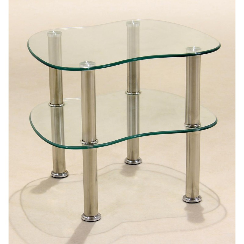 Hudson clear glass display stand side end lamp coffee table aloadofball Images
