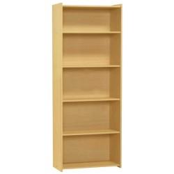 Santos Large Four Shelf Wooden Book Case Storage Dispay Stand - Beech Finish