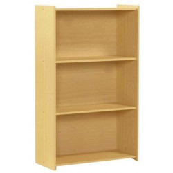 Santos Two Shelf Wooden Book Case Storage Dispay Stand - Beech Finish