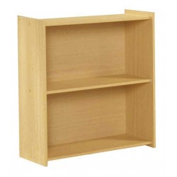 Santos One Shelf Wooden Book Case Storage Dispay Stand - Beech Finish