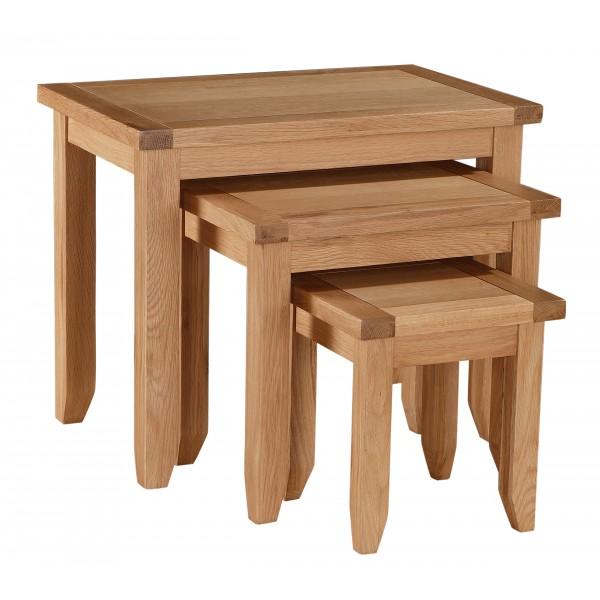 Stirling Solid Oak Nest of Tables