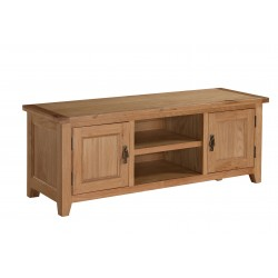 Stirling Solid Oak Large TV Cabinet with Doors