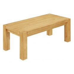 Zeus Rectangle Solid Oak Coffee Table - Light Oak Finish