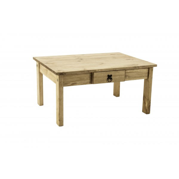 Corona Distressed Light Waxed Solid Pine Coffee Table