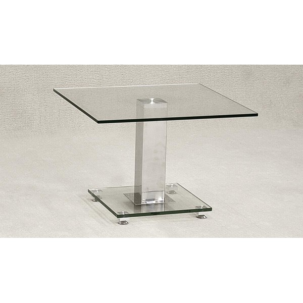 Ankara Clear Glass Square Lamp Side Coffee End Table
