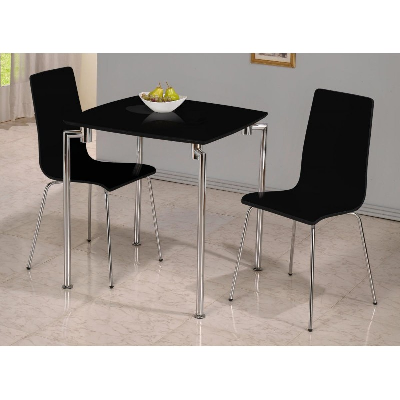 Fiji Small Square Dining Table With Two Chairs White