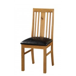 Acorn Solid Oak Traditional Dining Chairs Natural Finish - Pack of Two