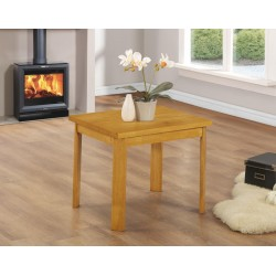York Wooden Lamp Side End Coffee Table Oak Finish