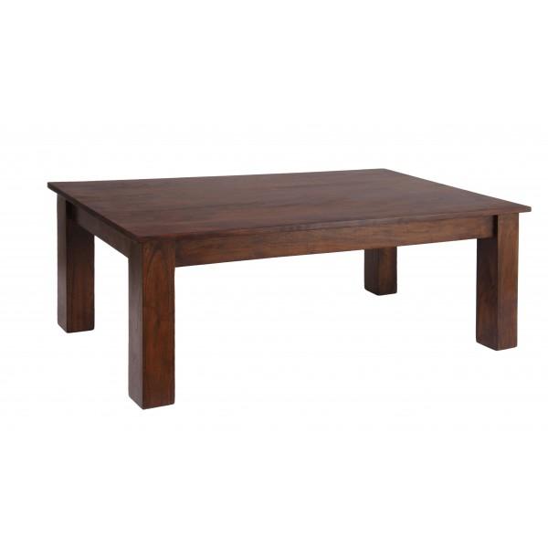 Carnival Solid Acacia Rustic Coffee Table - Dark Oak Finish