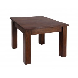Carnival Solid Acacia Rustic Lamp Side End Table - Dark Oak Finish