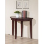 Lunar Folding Round Semi Circle Lamp Side End Hall Dining Table - Mahogany Finish