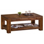 Martello Solid Acacia Coffee Table - Dark Brown Finish