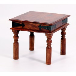 Jaipur Lamp Side End Table Solid Acacia Rustic Antique Indian Furniture
