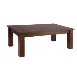 Carnival Solid Acacia Rustic Coffee Table - Dark Oak Finish