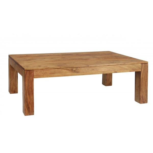 Carnival Solid Acacia Rustic Coffee Table - Brushed Sand Finish