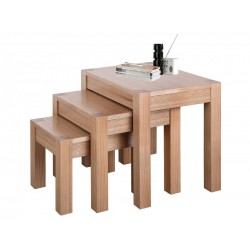 Cyprus Nest of Tables Side End Table Set Solid Ashwood