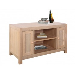 Cyprus TV Stand Entertainment Cabinet Solid Ashwood