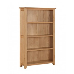 Stirling Solid Oak Three Shelf Bookcase