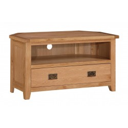 Stirling Solid Oak TV Cabinet with Drawers