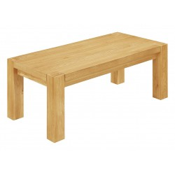 Zeus Coffee Table Solid Oak Rectangle Top - Light Oak Finish
