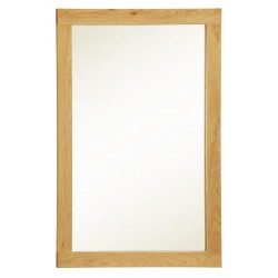 Zeus Solid Oak Wall Mirror Rectangle - Light Oak Fiish