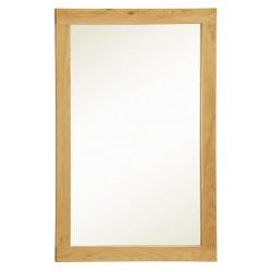Zeus Solid Oak Wall Mirror Rectangle - Light Oak Fiish