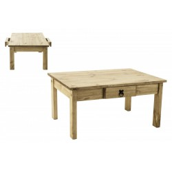 Corona Mexican Distressed Light Waxed Solid Pine Coffee Table