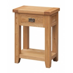 Acorn Solid Oak Hall Side End Lamp Table with Drawer