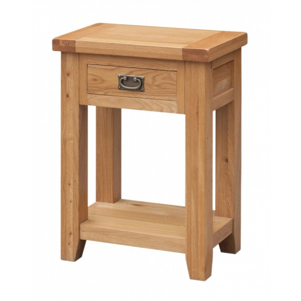 Acorn Solid Oak Hall Side End Table with Drawer
