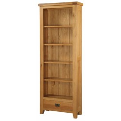Acorn Bookcase Display Stand Solid Oak Large Tall Four Shelf Assembled