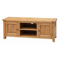 Acorn Solid Oak TV Stand Entertainment Cabinet